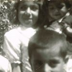 Attiya Faraj with her brothers and sister in childhood